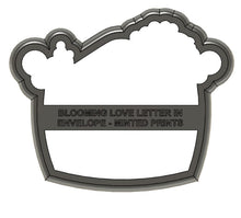 Load image into Gallery viewer, Blooming Love Letter Cookie Cutter