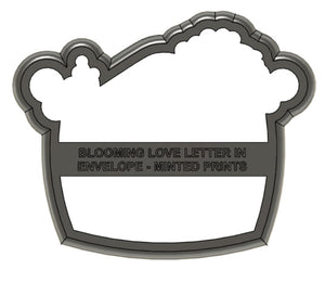 Blooming Love Letter Cookie Cutter