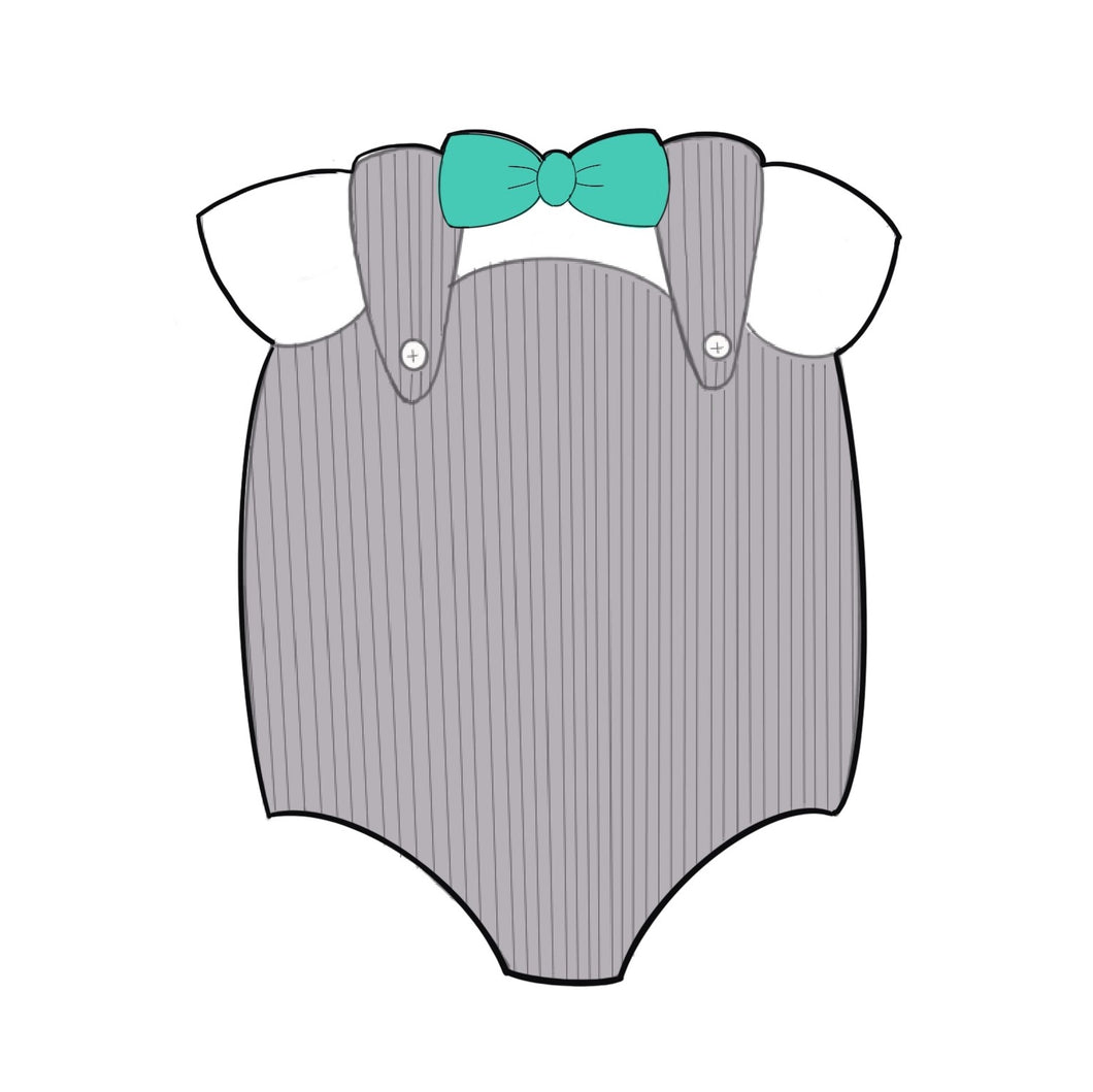Baby Jumper with Bow Tie Cookie Cutter