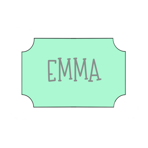 Emma Plaque Cookie Cutter