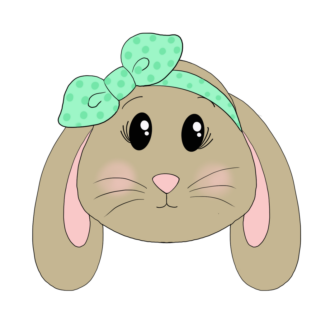 Floppy Ear Bunny with Bandana Cookie Cutter