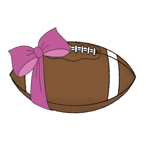Football with Bow Cookie Cutter