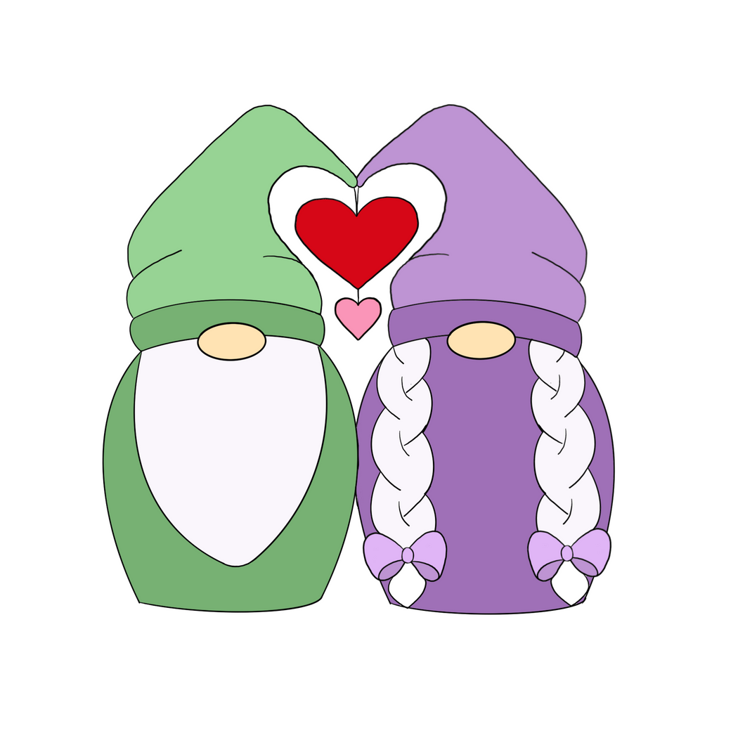 Gnome Couple Cookie Cutter