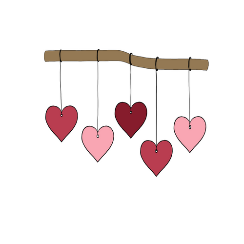 Hanging Hearts Cookie Cutter