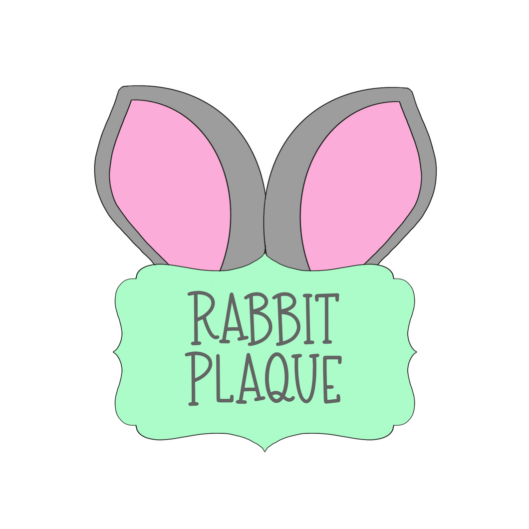 Rabbit Ears Plaque Cookie Cutter