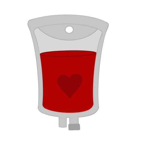 IV Bag/Blood Transfusion Bag Cookie Cutter