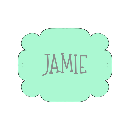 Jamie Plaque Cookie Cutter