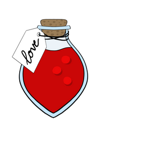 Love Potion Bottle with Tag Cookie Cutter
