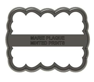 Marie Plaque Cookie Cutter
