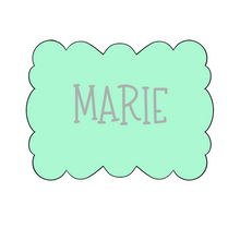 Load image into Gallery viewer, Marie Plaque Cookie Cutter