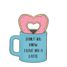 Load image into Gallery viewer, BYO Heart Donut in Mug Cookie Cutters (Set of 2)