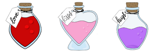 Valentine's Potion Bottle Cookie Cutter Set