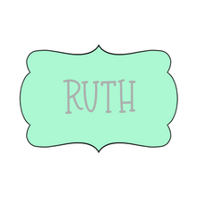 Load image into Gallery viewer, Ruth Plaque Cookie Cutter