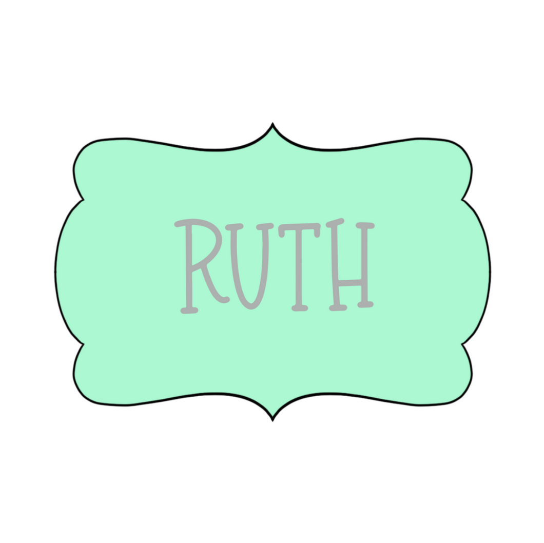 Ruth Plaque Cookie Cutter