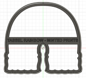 Tassel Rainbow Cookie Cutter