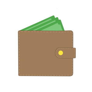 Wallet with Cash Cookie Cutter