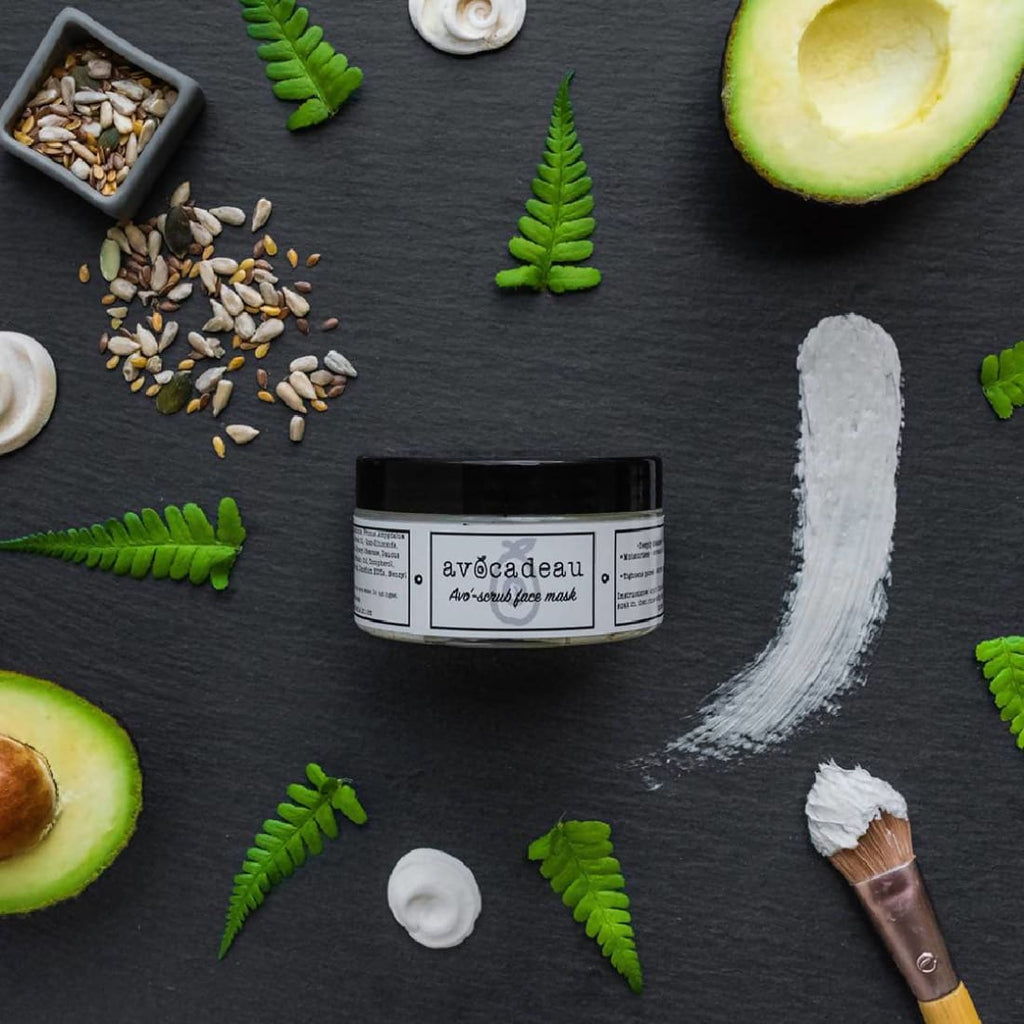 Avo-scrub face mask - Clay face mask | Humble Market