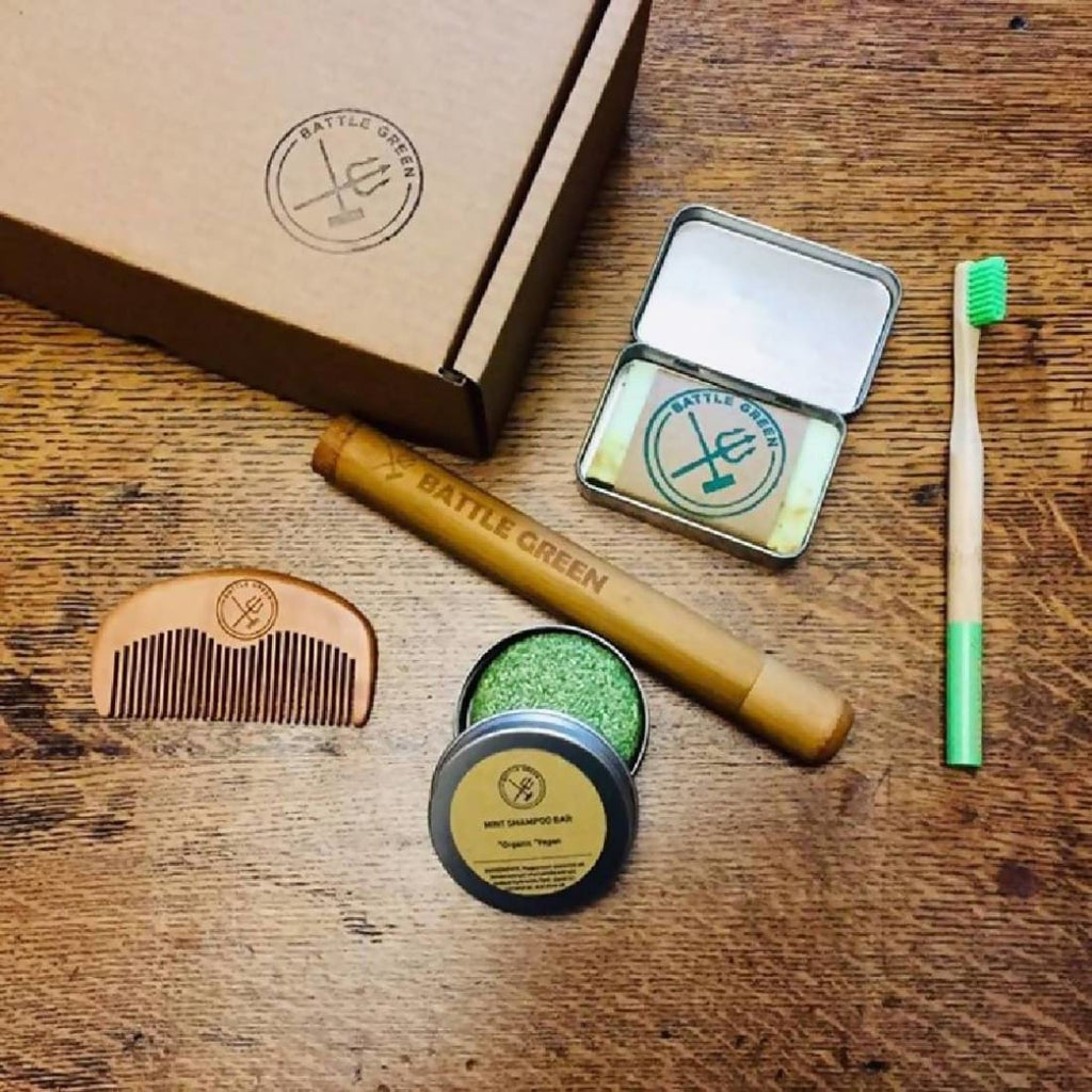Battle Green - Zero Waste Travel Box - Gift Box / Starter Kit | Humble Market