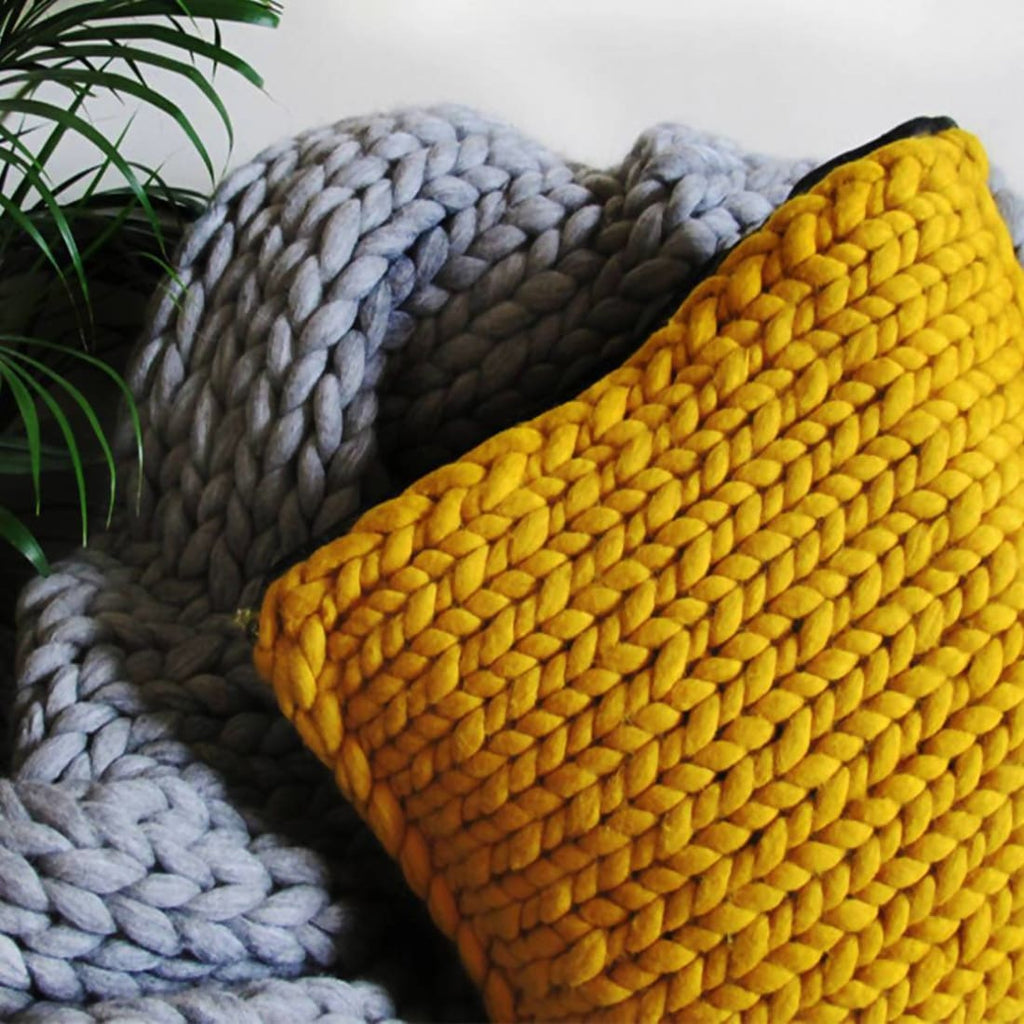 Chunky Knit Cushion - Knitted Blanket | Humble Market