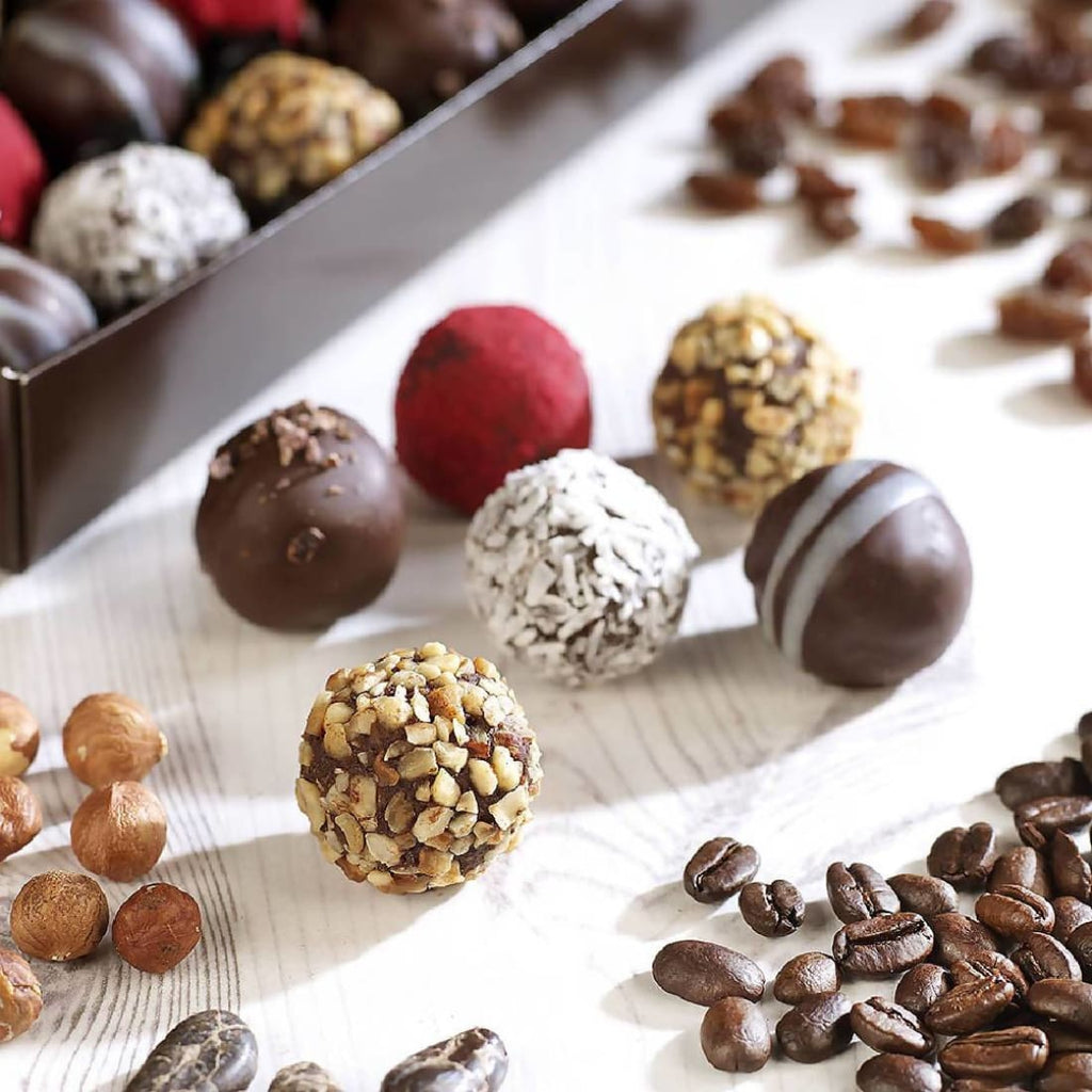 Classic Selection Box 24 Raw Organic Chocolate Truffles - Chocolate Box | Humble Market