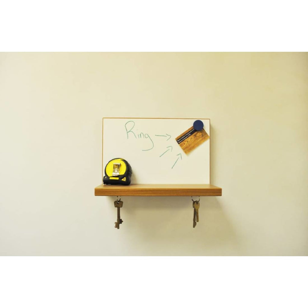 Hugo Magnetic Whiteboard Shelf - Walnut Effect Shelf | Humble Market