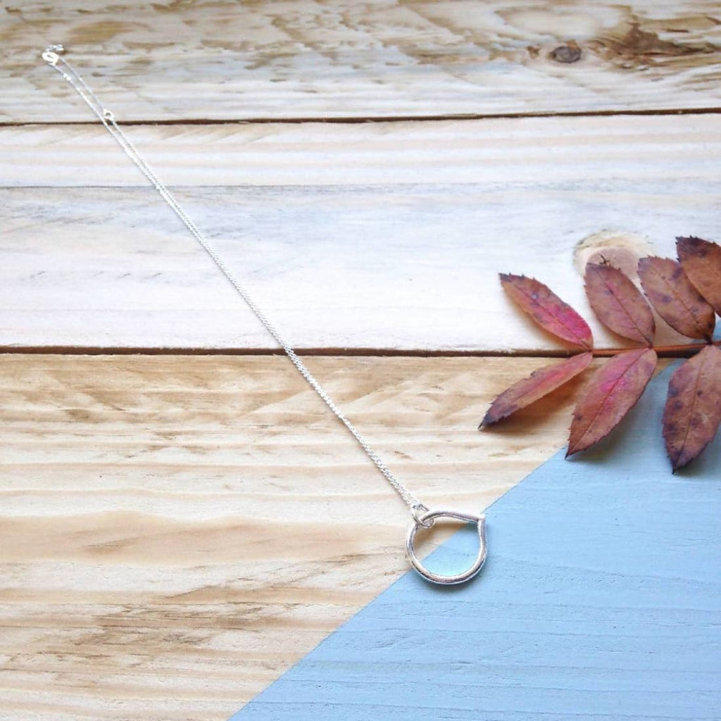 Lotus petal necklace in recycled sterling silver - Necklace/Jewellery | Humble Market