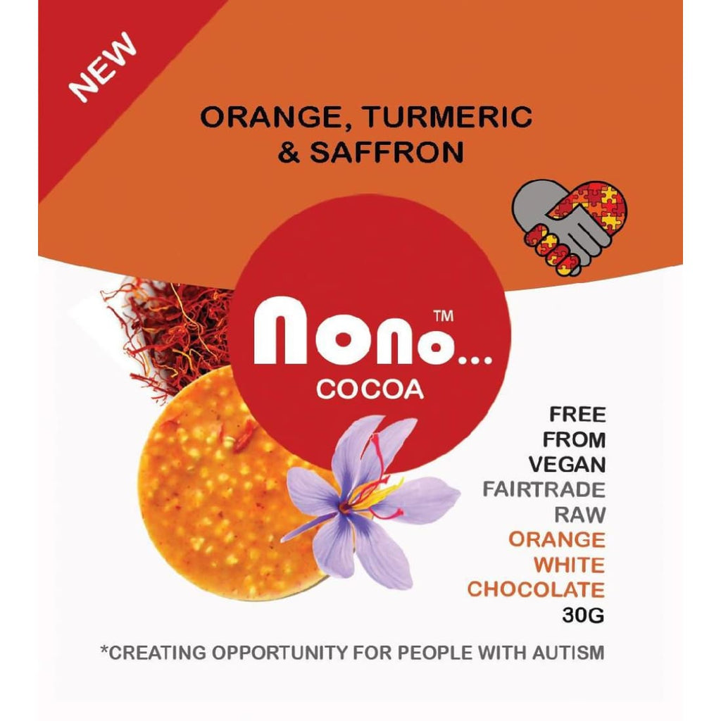 Nono Cocoa Chocolate Snacks - ORANGE SAFFRON & TURMERIC - Chocolates | Humble Market