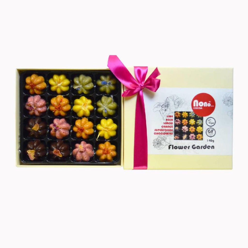 Nono Cocoa - Flower Garden - Vegan Superfoods Chocolates Gift Box - Chocolates | Humble Market