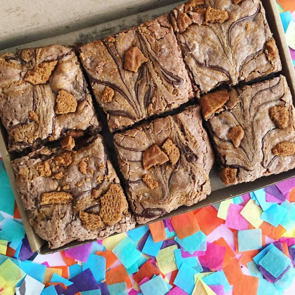 Vegan Lotus Biscoff Brownies (6) - Brownies | Humble Market