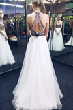 Halter Backless Princess Prom Dresses For Teens,Cheap Evening Dresses PFP0807