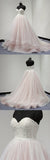 Sweetheart Lace Up Back Charming Affordable Long Pearl Pink Prom Dresses Ball Gown PFP0851