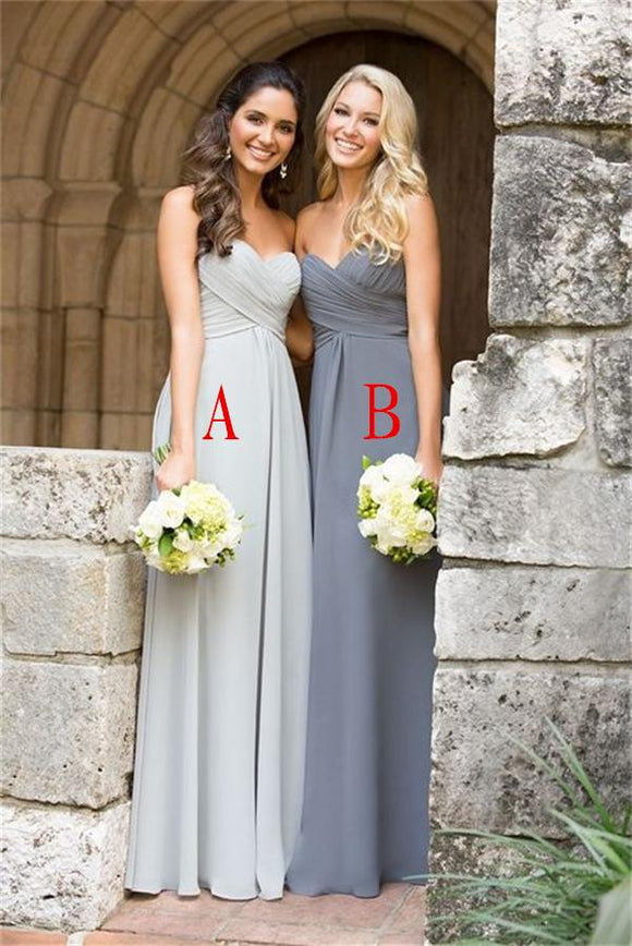 2019 Hot Sale Elegant A-line Sweetheart Simple Handmade Bridesmaid Dresses PFB0076