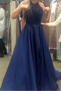 Royal Blue Beading Princess Ball Gown Prom Dress,2019 Sexy Party Dress For Teens PFP1019