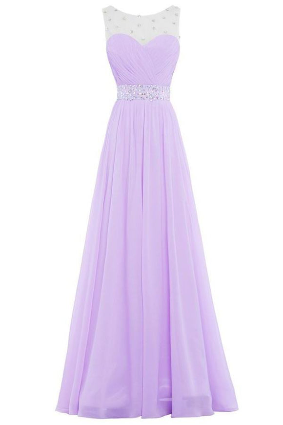 Simple Violet Chiffon Beading Cheap Elegant Long High Low Prom Dresses PFP1054