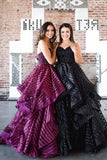 Charming Ball Gown Sweetheart Strapless Burgundy Long Prom Dress with Beading PFP0270