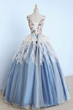 Unique Long Applique Ball Gown Prom Dress,Quinceanera Dresses,Sweet 16 Dress PFP0384