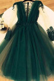 Cute A Line Tulle Green Short Homecoming Dresses,Graduation Dresses