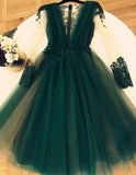 Cute A Line Tulle Green Short Homecoming Dresses,Graduation Dresses PFH0133