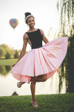 Black and Pink Short A Line Homecoming Dress,Graduation Dresses