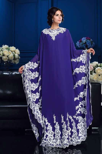 Promfast A-Line Princess Scoop Appliques Long Sleeves High Neck Chiffon Mother of the Bride Dresses PFM0015