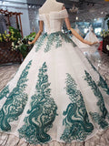 Off the Shoulder Prom Dresses,Ball Gown Wedding Dress, Quinceanera Dresses PFP0558