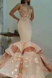 Newest Lace Sweetheart Mermaid Appliques Sleeveless Prom Dress PFP0131