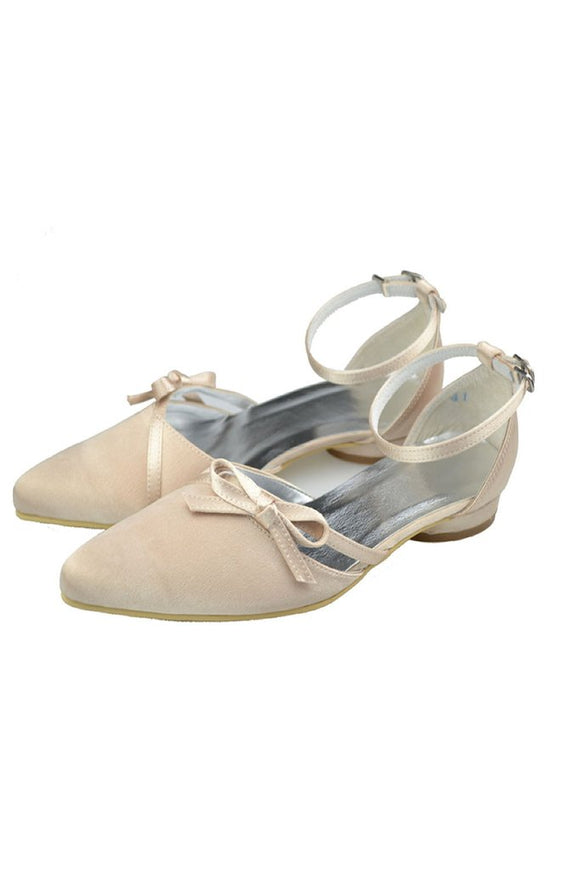 Charming Ankle Strap handmade Comfy Flats For Wedding PFWS0017