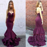 Long Sweetheart Strapless Mermaid Teens Prom Dresses, Evening Dresses for Women PFP0723