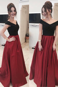 New Arrival V-Neck A-Line Long Prom Dresses,Cheap Formal Women Evening Dress