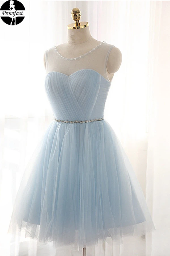 Promfast beautiful Tulle Short Prom Dresses Homecoming Dresses PFH0309