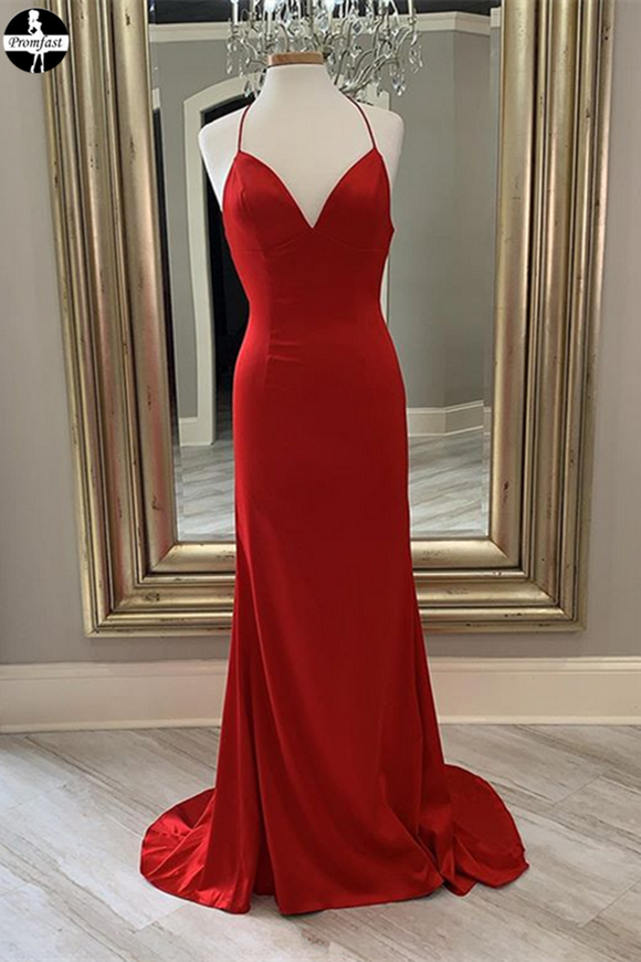Promfast Red New Junior Prom Dress, Long Homecoming Dress for sale PFH0312