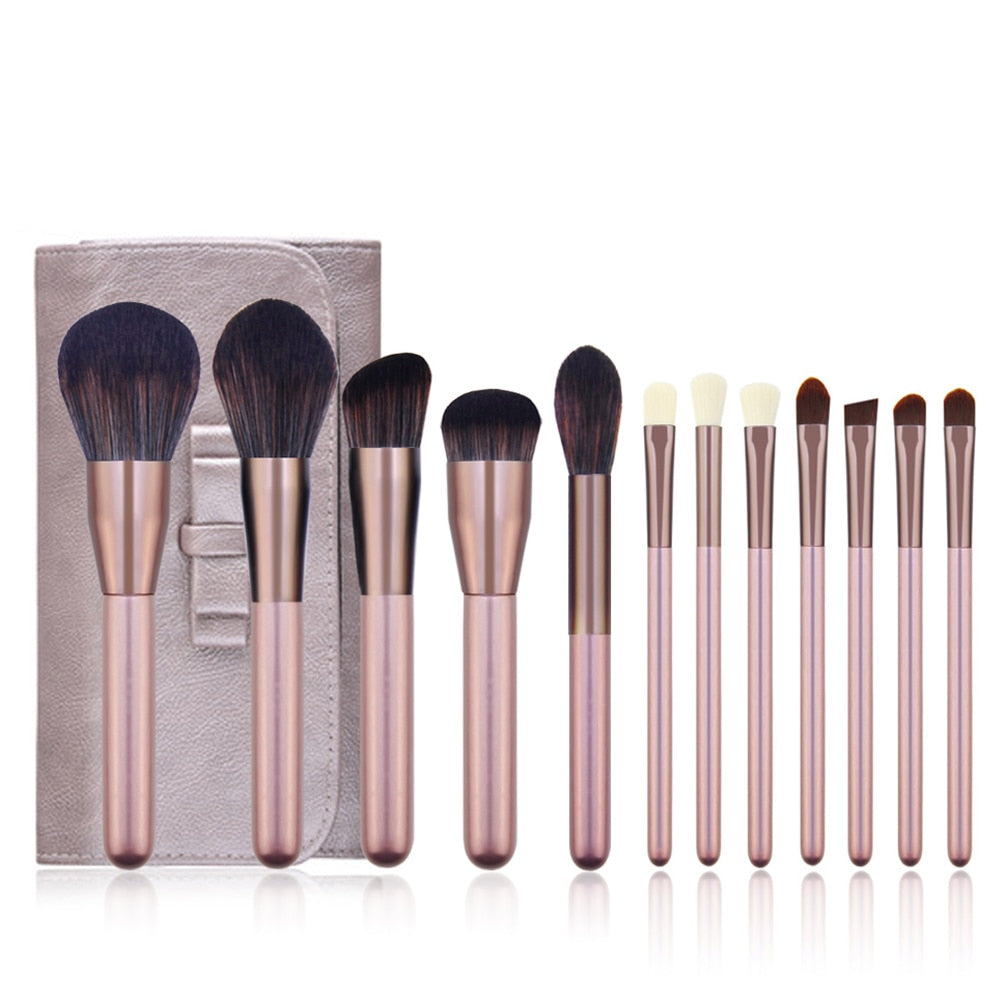 Metallic Pink beauty Make up brush Soft blush Powder Foundation Eyeshadow brush