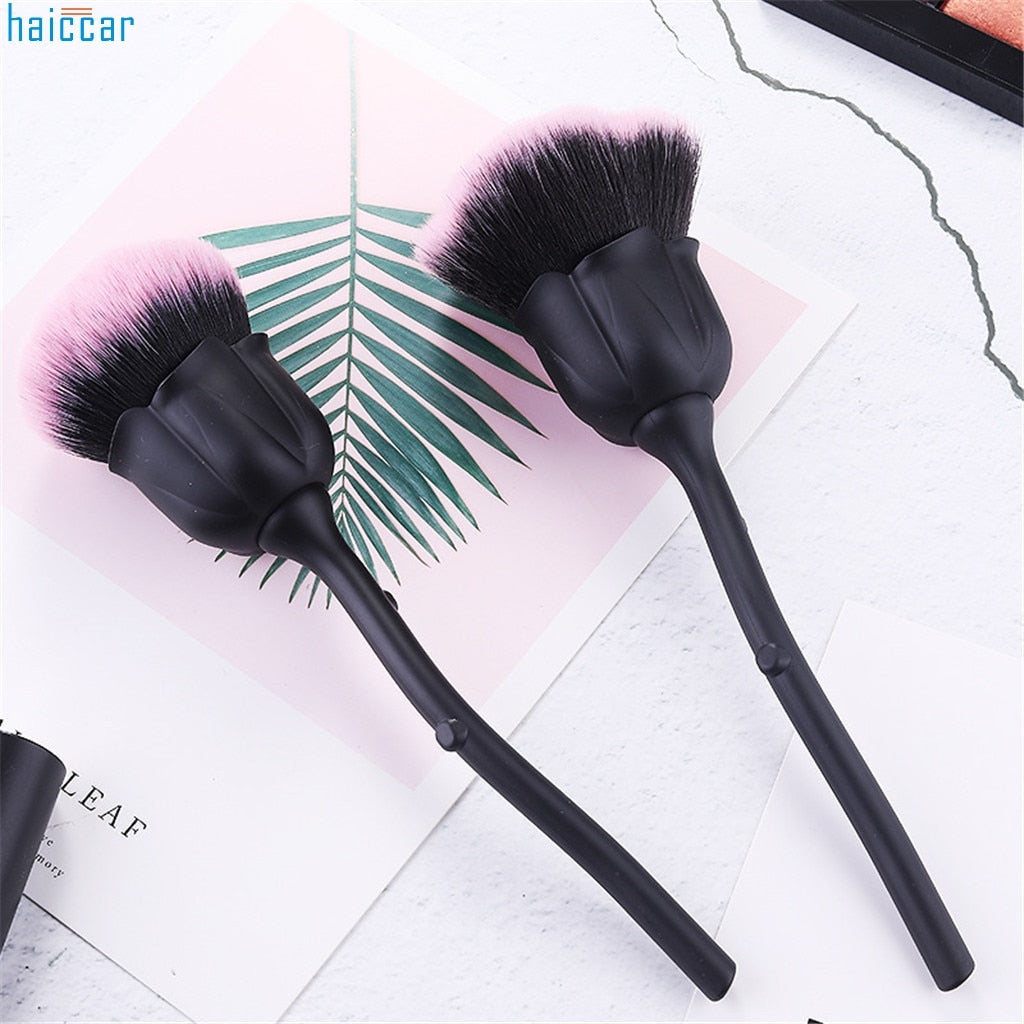 New Fashion Rose Flower Cleaning Brushs Nail Brush Powder brush