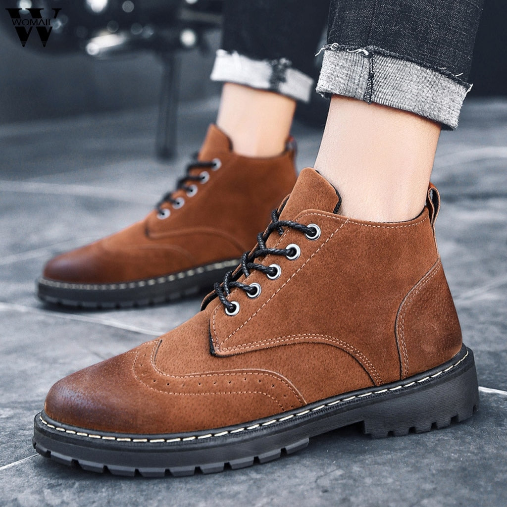 Round Head Outdoor Sneakers Puncture Proof Boots Industrial Shoes For Men